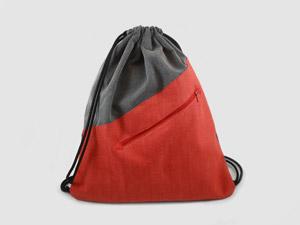Turnbeutel Grau / Rot