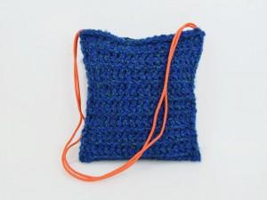 Tasche Strick / Blau