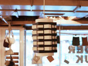 Schwarz-weiße Leuchte / Kunststoff