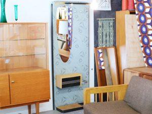 Garderobe mit Spiegel, Schirmständer & Co / H 184cm x B 75cm x T 35cm