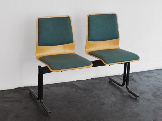 Sitzbank / Formholz & Metall