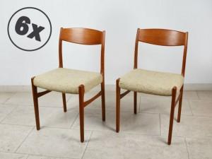 6 Teak Stühle / Glyngore Stolefabrik