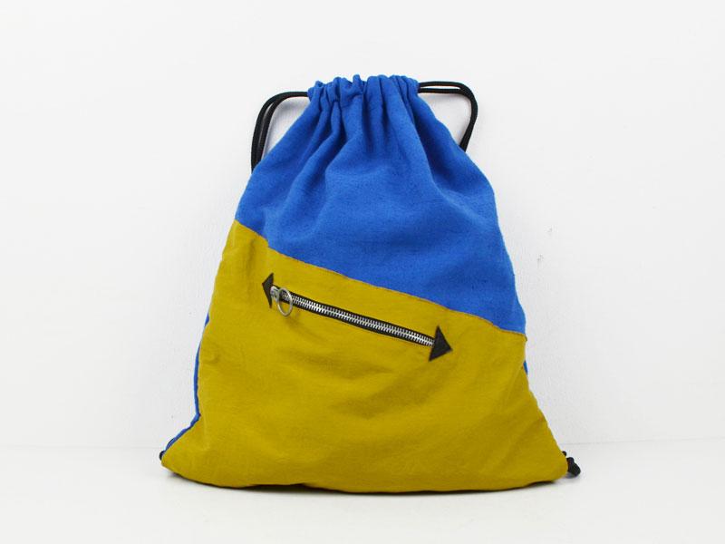 Turnbeutel Blau / Gelb
