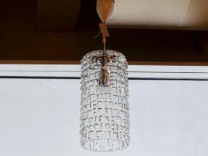 Deckenleuchte / Glas mit Musterrelief
