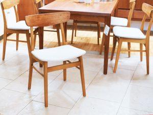 6er Set Stühle / Teak & Buche / Farstrup Møbelfabrik DK