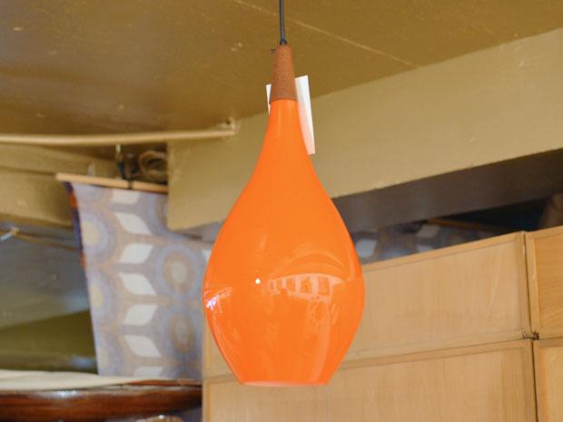 Deckenleuchte Glas / Teak / M. Bang für Holmegaard