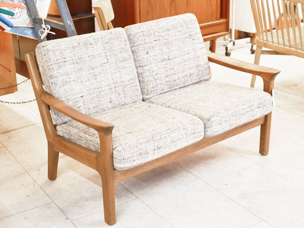 zweiersofa teakholz wollbezug juul kristensen dk wedderbruuk. Black Bedroom Furniture Sets. Home Design Ideas