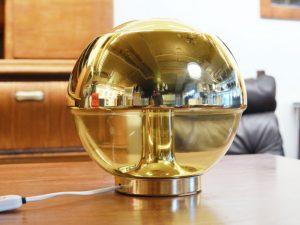 Tischleuchte Kugel / Glas & Chrom / Peill & Putzler