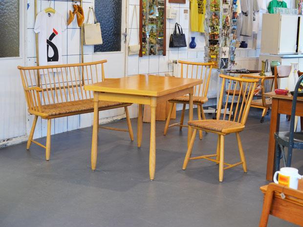 Arno Lambrecht Sitzgruppe / WK-Möbel / Binsengeflecht
