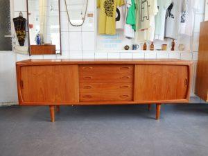 Sideboard 220cm / Teakholz / H. P. Hansen, 60er, Dänemark