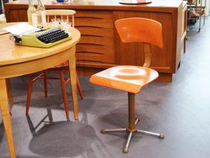 Schreibtischstuhl / Drabert / Orange lackiert