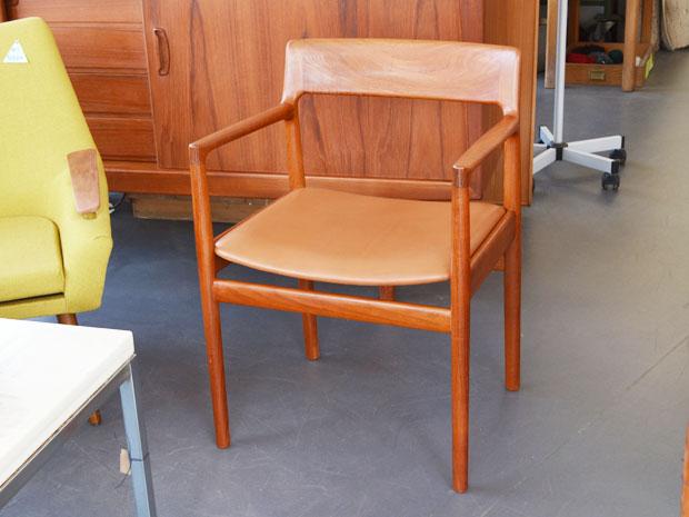 armlehnenstuhl leder teakholz johannes n rgaard wedderbruuk. Black Bedroom Furniture Sets. Home Design Ideas
