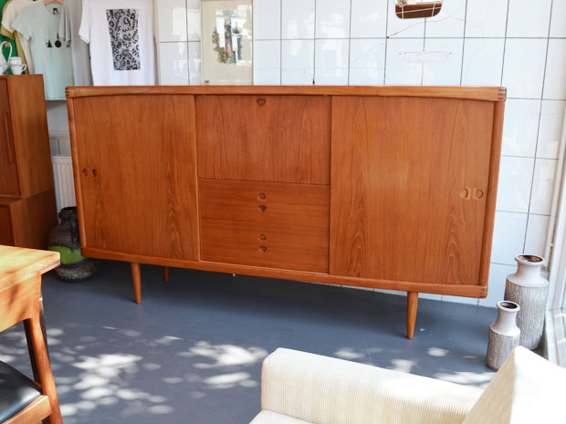 Highboard / H. W. Klein für Bramin Dänemark / 1960er / Teakholz