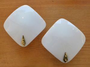Wandlampen / Plexiglas & Messing
