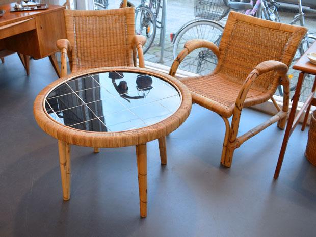 Sitzgruppe aus Rattan & Bambus / Arco Deutschland