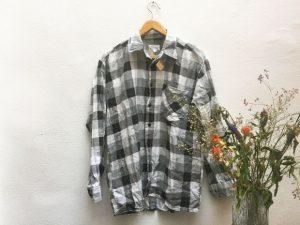 Flanellhemd / Schwarz & Weiß