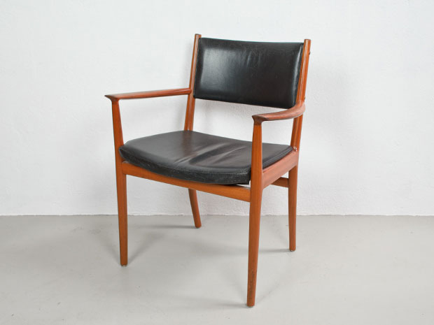 Armlehnenstuhl, Kai Lyngfeld-Larsen für Sören Wiladsen, 1960er Jahre (mehrfach vorhanden)