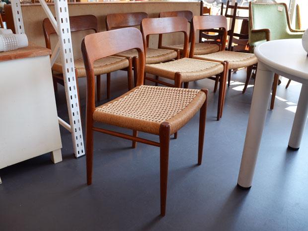 6er Set Stühle / Teak / Niels Møller Denmark / Modell 75