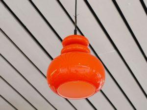 Deckenleuchte / Glas orange