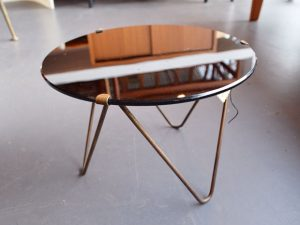 Tischchen Glas / Messing