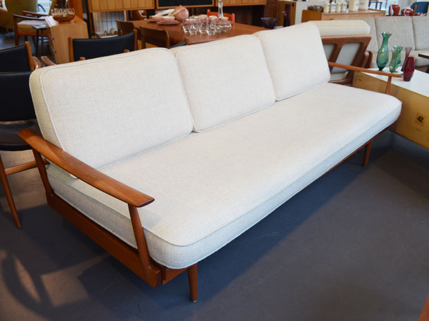 Couch / Daybed Walter Knoll / Teakholz & Wolle