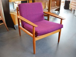 Teak Sessel der Firma Glostrup, DK / Originalbezug