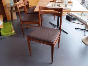 4er Set Stühle von Lübke / Palisander / auf Wunsch neu bezogen