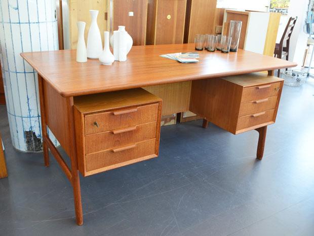 Teakholz Schreibtisch von Omann Jun, Dänemark