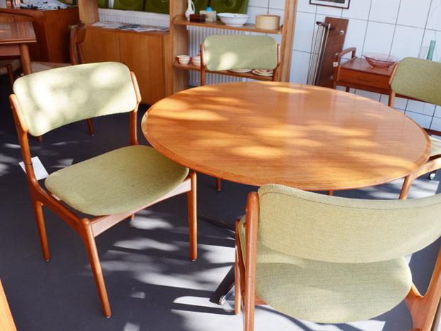 4er Set Teak Stühle, Erik Buch