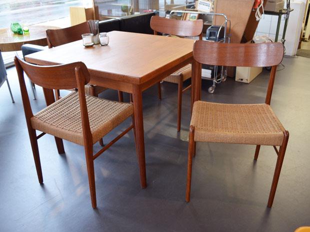 6er Set Stühle / Glyngøre Stølefabrik / Teakholz & Papercord
