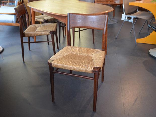 8x Stuhl von Georg Leowald für Wilkhahn / Walnuß & Binsengeflecht / Preis: 80 € pro Stuhl