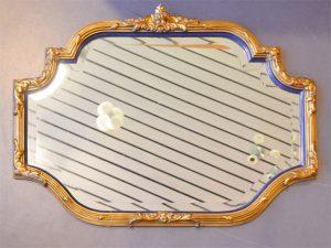 Antiker Spiegel mit goldenem Rahmen / geschliffenes Glas / Preis: 180 €