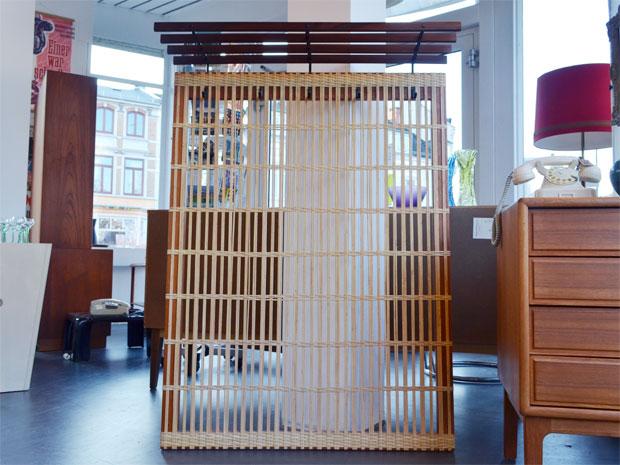 Garderobe / Teakholz & Rattan / Preis: 160 €