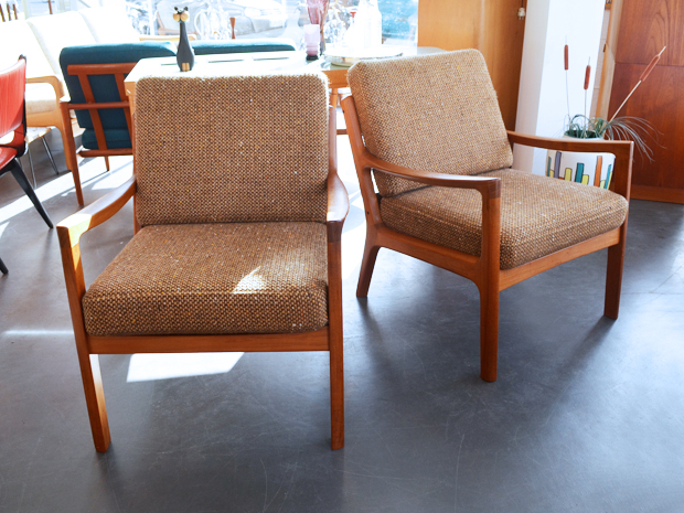 Zwei Sessel von Ole Wanscher / Modell Senator für CADO