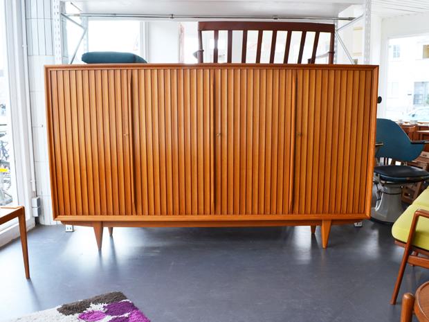 Highboard / Kirschholz / L 230 cm x H 134 cm x T 45 cm / komplett demontierbar