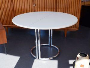 Runder Esstisch / Läsko Exclusiv Modell / Chrom / + 2 Einlegeplatten