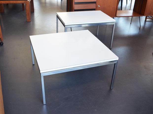 2er Set Beistelltische von Florence Knoll Bassett für Knoll Inc. / Knoll International