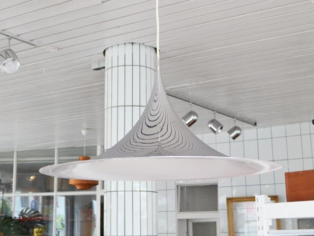 Deckenleuchte SEMI von Bonderup & Thorup für Fog & Mørup / 1960er Dänemark / ø 70cm