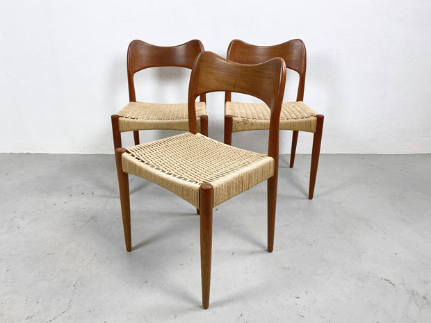 3 Stühle / Arne Hovmand Olsen für Mogens Kold